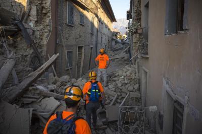 Misión de rescate en Italia - 2016