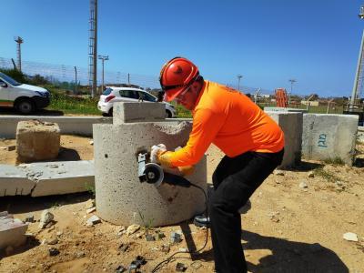 אימון לצוות החילוץ של עיריית חיפה